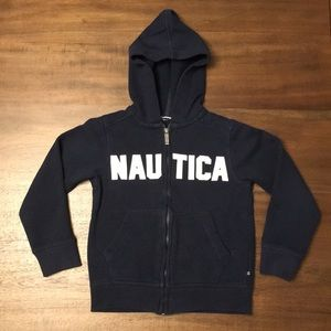 Nautica Boys Zip Front Hoodie. Size 5/6.